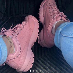 Fila Shoes | Hot Pink Fila Disruptors